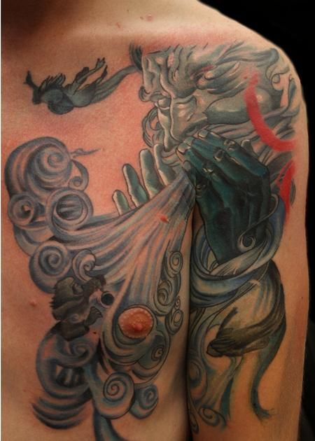 Wind Tattoo Wes brown @ metropolis tattoo and fine art : tattoos ...
