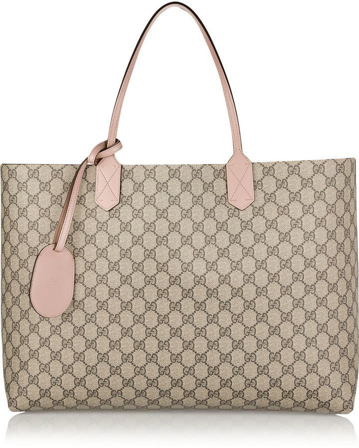 a604efac13d Gucci Turnaround Large Reversible Bonded-Leather Tote   bags