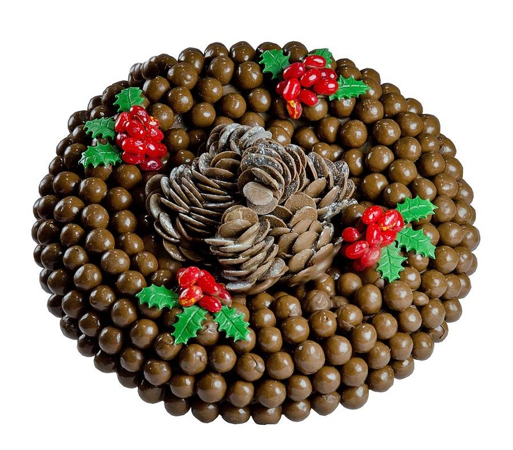 maltesers wreath. Ooh! Easy and irresistible.
