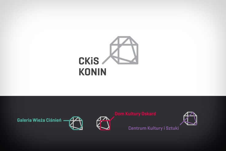 Centrum Kultury i Sztuki w Koninie - warianty logo.