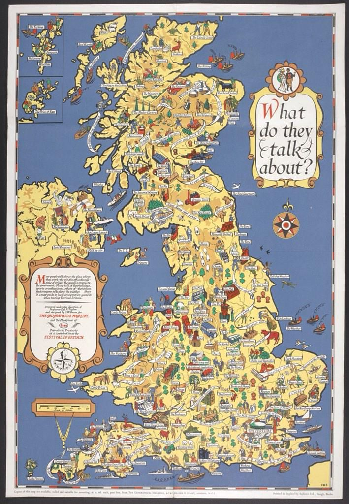 'What Do They Talk About?' map of Britain