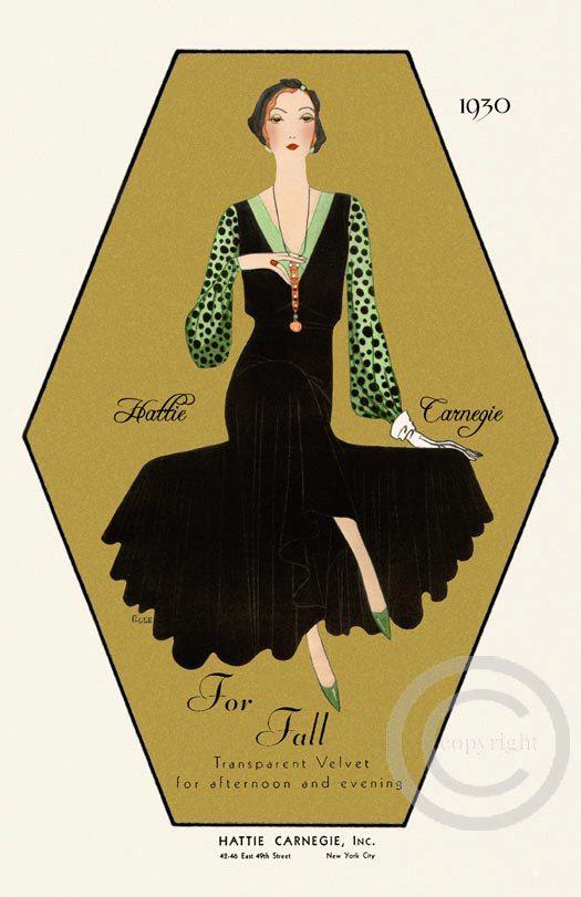 Gorgeous Art Deco Designer fashion Hattie by DragonflyMeadowsArt, $25.00