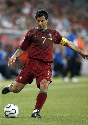 Luis Figo   Former Portugal Captain #7, Former Real Madrid #10