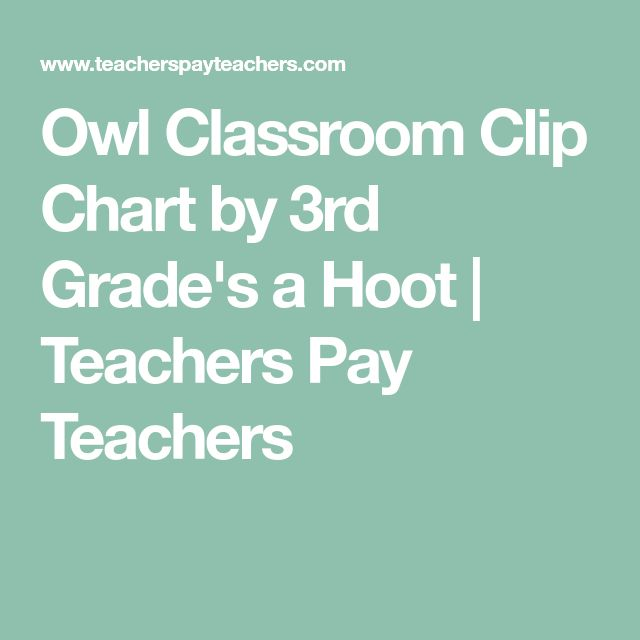 Owl Classroom Clip Chart by 3rd Grade's a Hoot | Teachers Pay Teachers