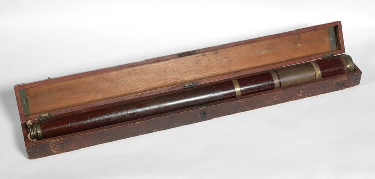 This telescope is 87cm long when fully extended. It is said to have belonged to Captain James Cook.