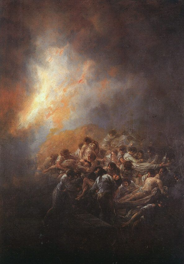 Fire at Night [1793-1794]Francisco Goya [1746 - 1828]