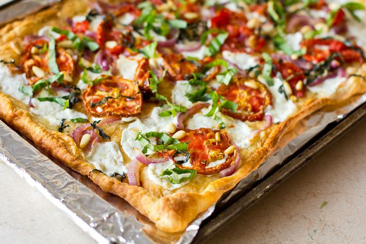 Pastry Pizza with Roasted Tomatoes   Pizza   Pinterest