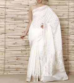 Orange Handloom Banarasi Silk Chiffon Saree