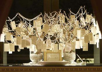 Wedding Wish Trees Instead Of Guest Books - We are so going to do something like this - great idea!!!