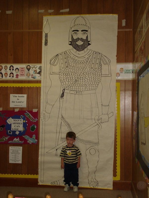 Childrens Ministry:  Goliath..make it a great visual like this
