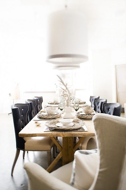 rustic meets chic table setting..dinning room