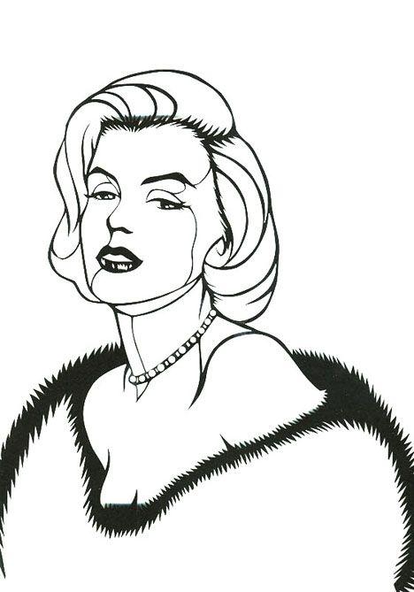 【エリーの切り絵】マリリン・モンロー