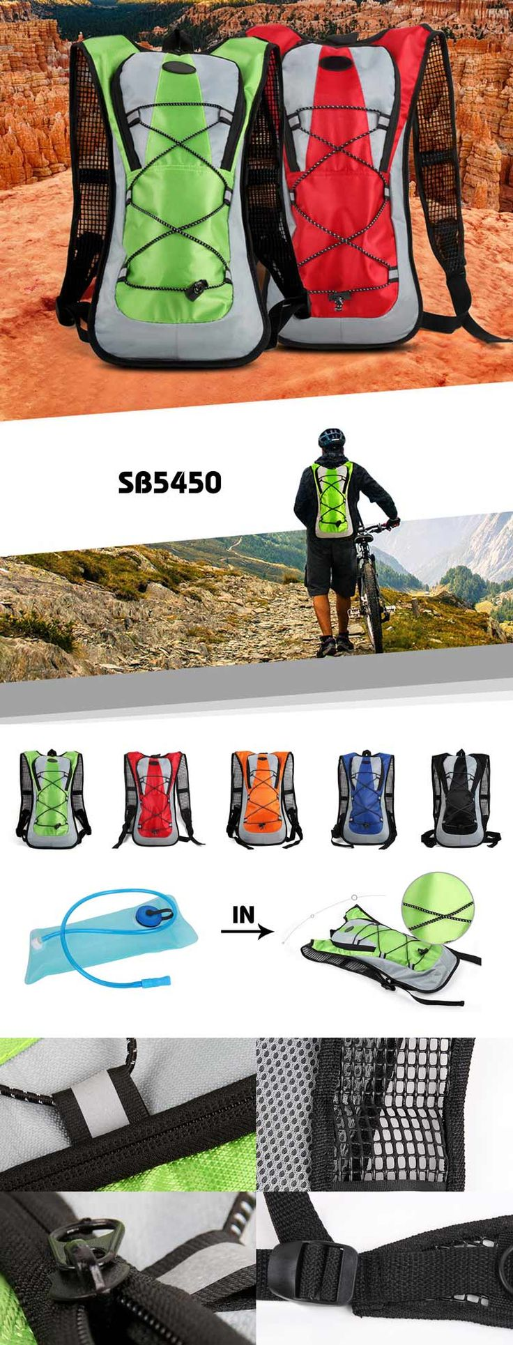 Outdoor Hiking Climbing Backpack Description:        ● Material: jacquard fabric+190T polyester lining+1MM PE board    ● Size:22.5*5*45.5CM    ● Big logo printing area    ● OEM design is welcome   Accessory: backpack andwater bottle