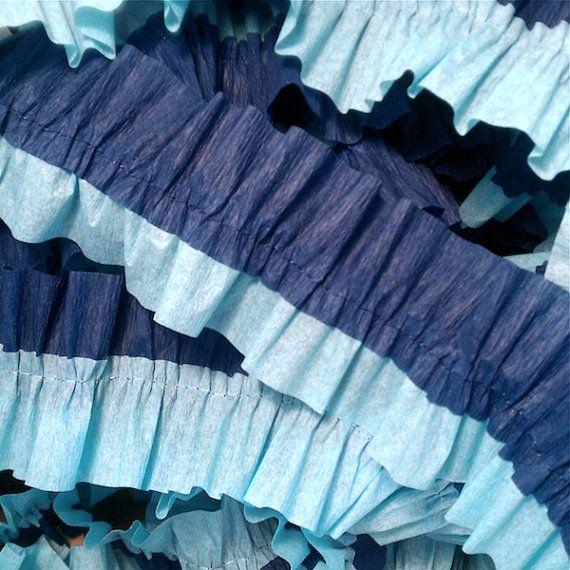 15 FEET of Ruffled Crepe Paper Streamers