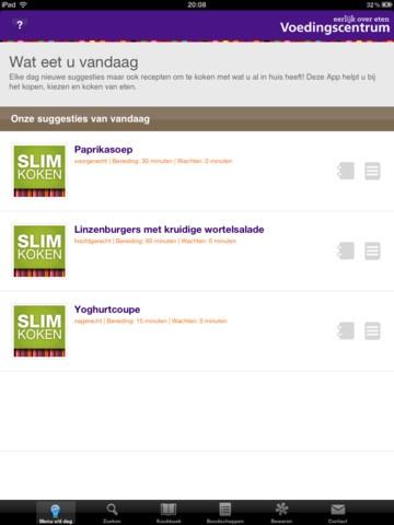 APP: Slim Koken van Het Voedingscentrum: Met deze app kook je precies op maat. Je krijgt ook slimme koop- en bewaartips.
