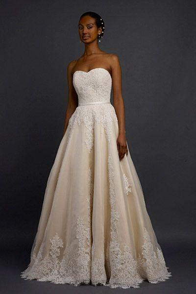 Gown by Robert Bullock Bride #weddingdresses #yellow