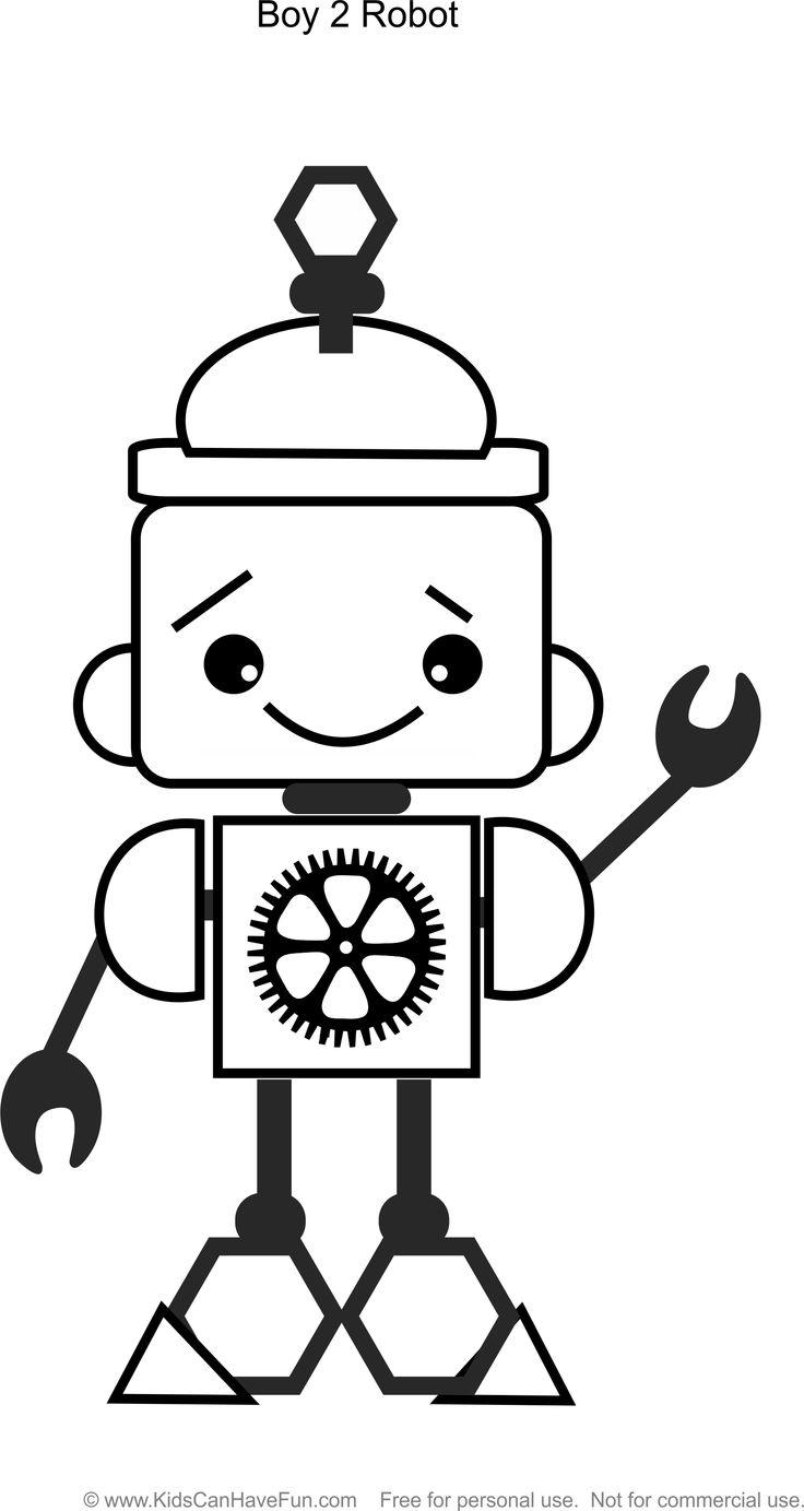Robot Boy 2 coloring page http://www.kidscanhavefun.com