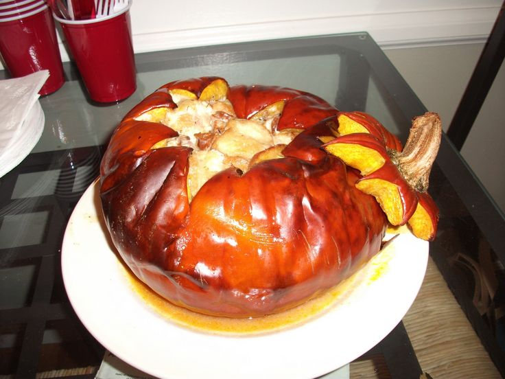 Pumpkin Stuffed with Everything Good | Entertaining | Pinterest