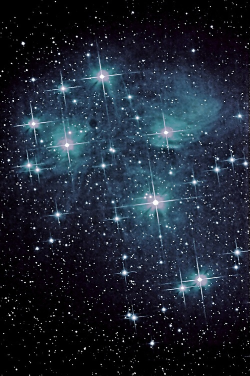 Pleiades 100mm Apo (by Ian J Crichton)