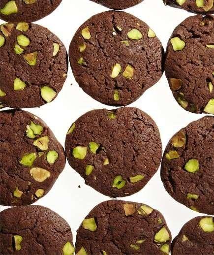 Chocolate-Pistachio Slice-and-Bake Cookies
