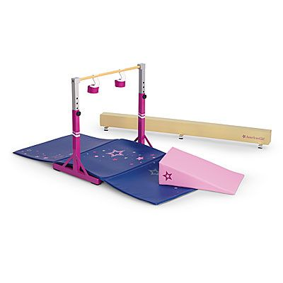 American Girl® Accessories: Gymnastics Set So if you didn't get a chance to get Mckenna's bar and beam set, here you go!!