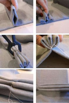 Easy way to make pinch pleat curtains