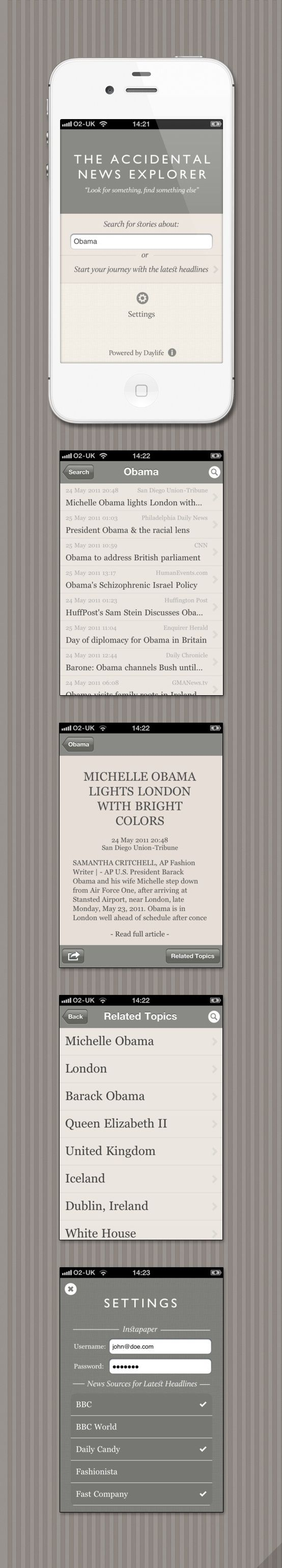 The Accidental News Explorer  By CreativeApplicati...