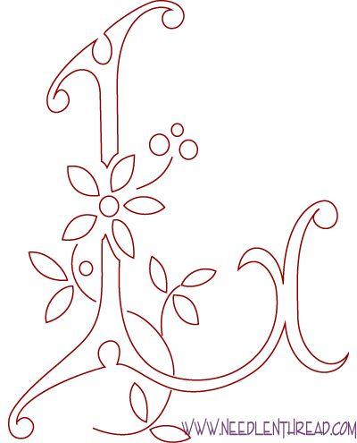 37 Best Letras Mi Blog Images On Pinterest Embroidery