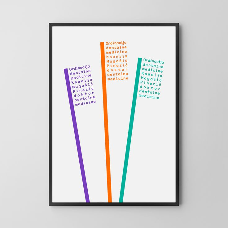 Print by Studio8585 for Croatian dental practice run by Dr. Ksenija Magašić Pinezić.