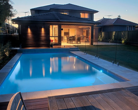 Rectangle Pools glass fence love it