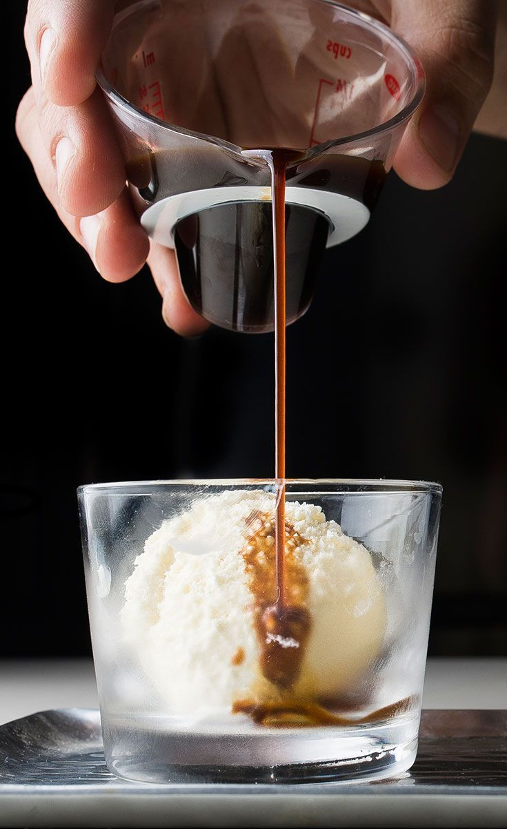 Fall in amore with affogato, the superior two-ingredient dessert.