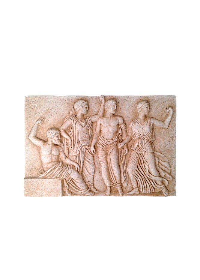 Ανάγλυφη αρχαία πλάκα   Ancient grave Stele