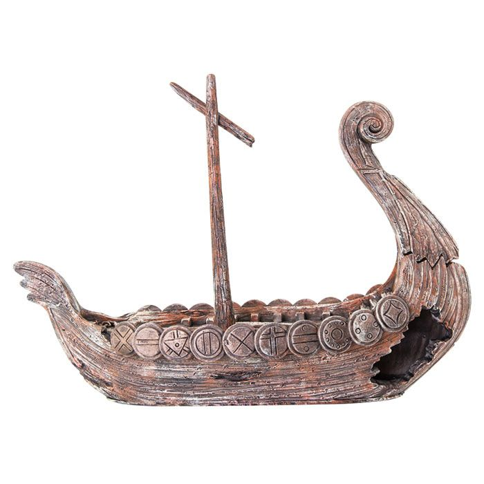 Viking Ship Aquarium Ornament