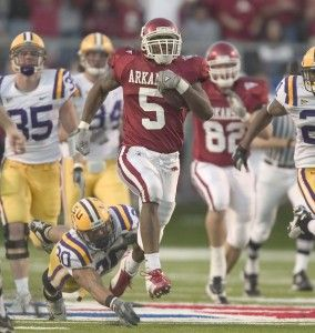 Darren McFadden was a beast for the Arkansas Razorbacks. Description from sportinglifearkansas.com. I searched for this on…