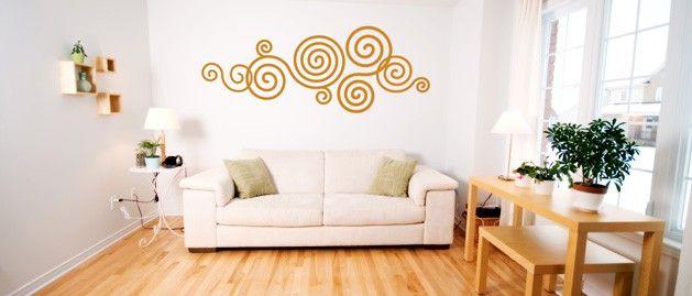 Spirála (1056) / Samolepky na zeď, stěnu a nábytek