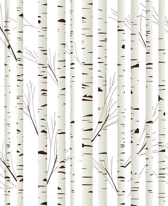 Woodland Trees Removable Wallpaper Nursery Wallpaper Etsy Tree Removable Wallpaper Removable Wallpaper Nursery Removable Wallpaper