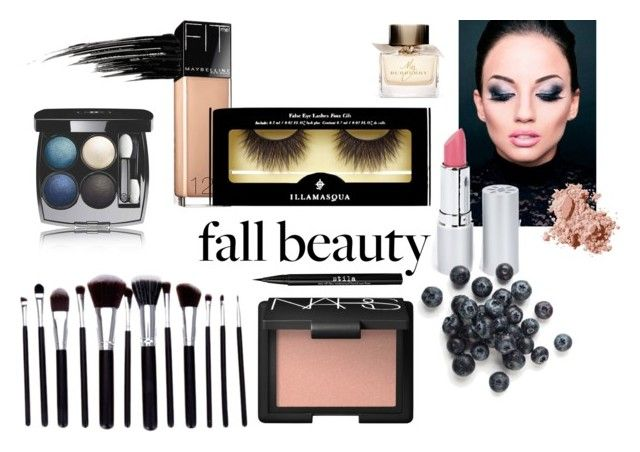 """Tonight"" by andrea-sara-maniga on Polyvore featuring bellezza, Stila, HoneyBee Gardens, Chanel, Maybelline, Illamasqua, NARS Cosmetics, Burberry, Urban Decay e Bobbi Brown Cosmetics"