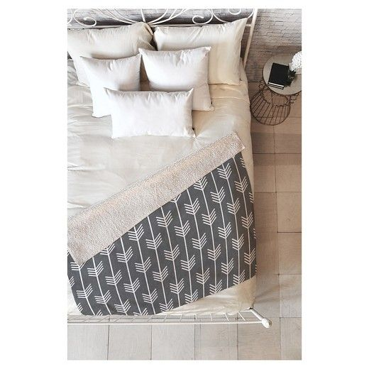 The Holli Zollinger Arrows Grey Sherpa Throw Blanket by DENY Designs may be the softest blanket ever! Featuring a printed plush silky smooth top side with a fuzzy warm underside, it's the perfect blanket to snuggle up with on the couch, bed, and anywhere in between! This Holli Zollinger Arrows Grey Sherpa Throw Blanket by DENY Designs is sure to be the talk of company with artwork provided by one of DENY Designs select artists. With each purchase of a DENY Designs product a portion of all...