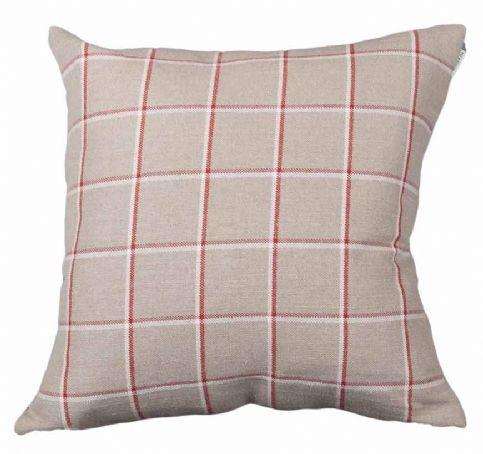 Skye Check Peony Cushion