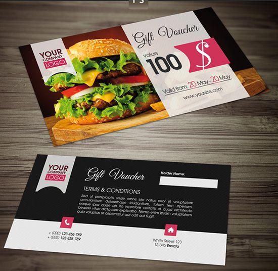 25+ melhores ideias de Voucher template free no Pinterest Modelo - food voucher template