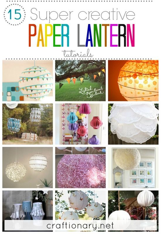 Super creative paper lanterns #lanterns #DIY