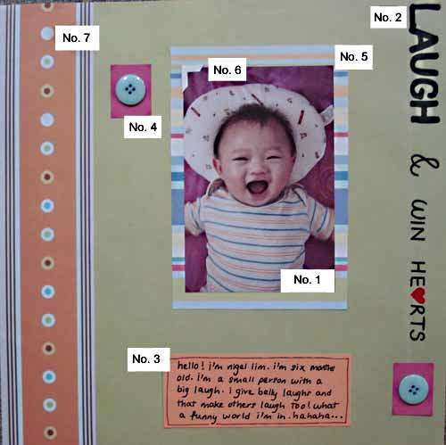 Scrapbooking Layout That Shows The Basic Elements Of A