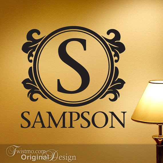 Best Names Monograms Wall Decals Images On Pinterest Baby - Family monogram wall decals