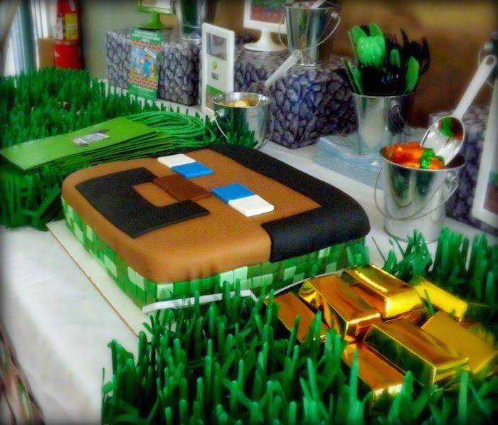 Minecraft themed birthday party with Lots of Really Fun Ideas via Kara's Party Ideas KarasPartyIdeas.com #minecraftparty #minecraft #partyideas