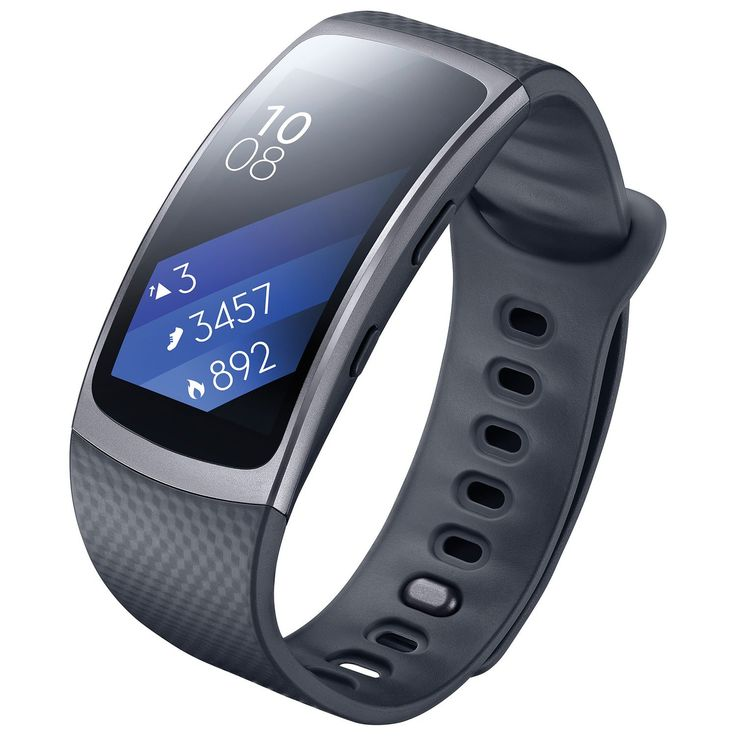 SAMSUNG Gear Fit2 SM-R360 Sports Band Smartwatch / iPhone Compatible [Asia Version] (Black - Large). Tracking your step count, calories burned, floors climbed, sleep quality and more makes your goals easier to achieve. Forget about the start button. The Gear Fit2 automatically recognizes what you're doing. Strap Length (Wrist sizes) : Small 125~170mm / The water-resistant Gear Fit2 is up for anything - IP68. Compatible with select Bluetooth capable devices using Android OS 4.4 and later…