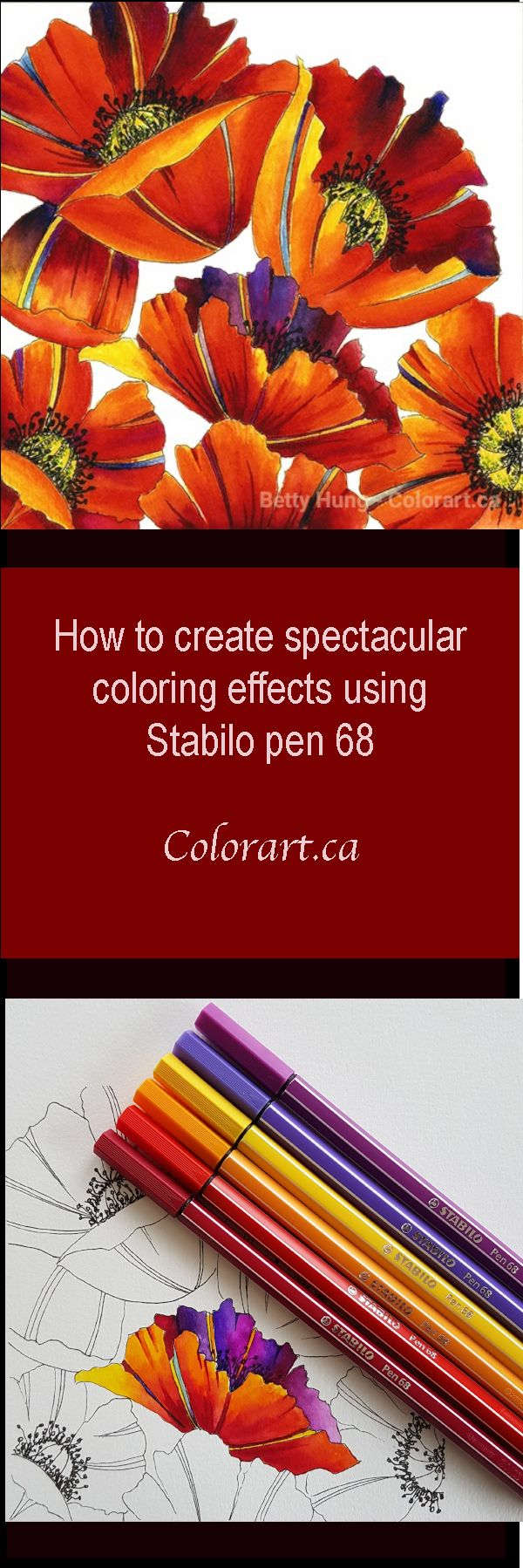Visit colorart.ca to learn how to create spectacular colors using Stabilo pen 68