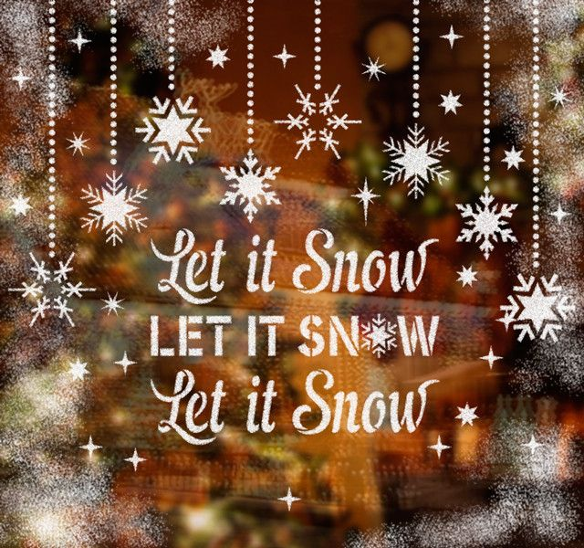 Add warmth and comfort to your home Christmas decor with using Let It Snow Holiday Windows Stencils Kit! It is a perfect idea to decorate windows at your home using our removable spray snow (included