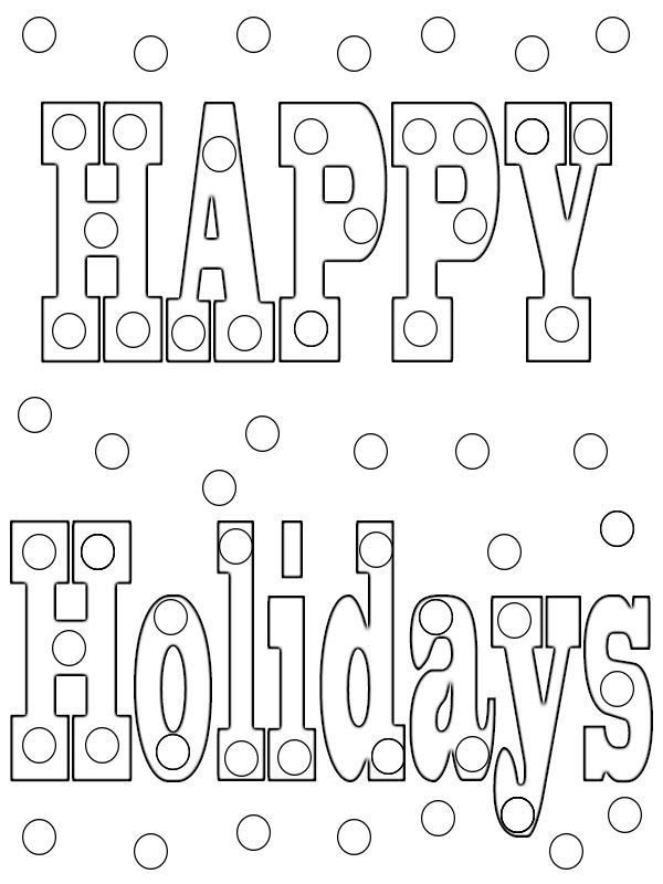 Happy Holidays Coloring Pages Print Coloring Pages To Print Quote Coloring Pages Coloring Pages