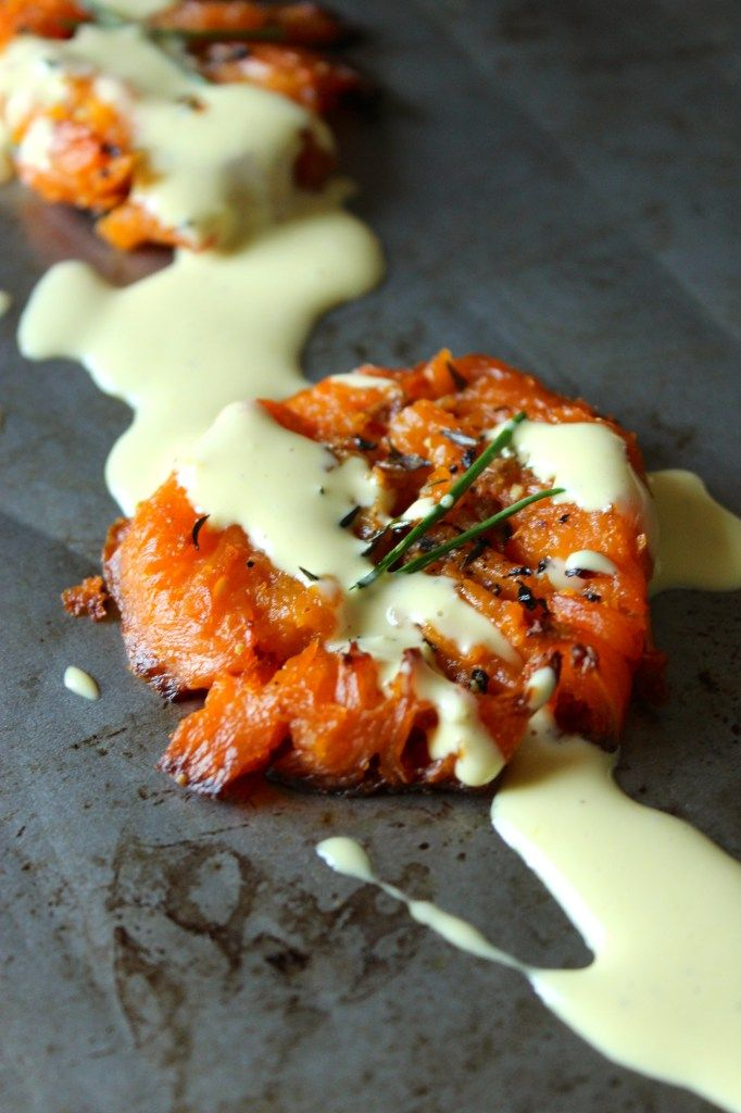 Savory Smashed Sweet Potatoes with Lemon Garlic Aioli – The Fitchen