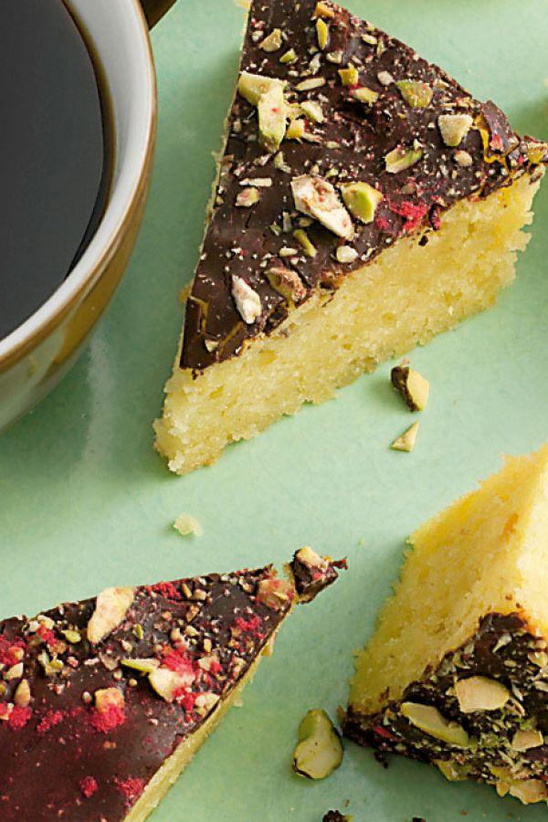 0a842a90198 Mazarin med pistacie   Kager   Kage ideer, Dessert og Kage